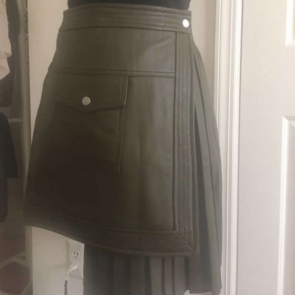 ASOS Dresses & Skirts - Leather Pleated symmetrical leather skirt!